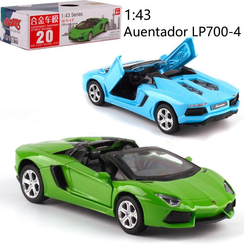 143 escala LP700-4 de aleación de Pull-Coche de fundición de Metal modelo de juguete de modelo de coche de colección amigo regalo de los niños