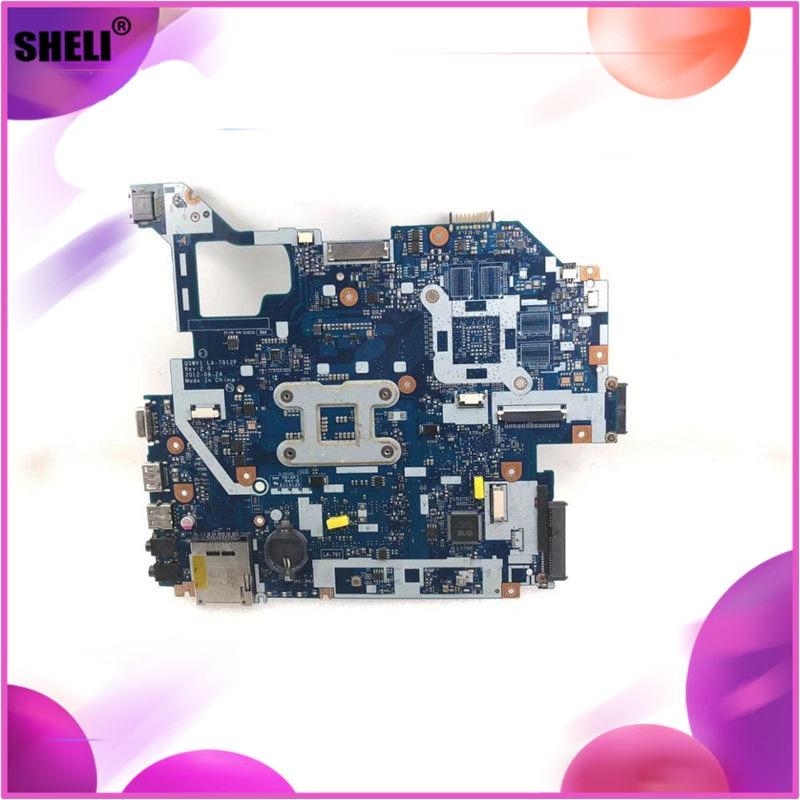 sheli For Acer Aspire E1-571 E1-571G V3-571G V3-571 NV56R Q5WVH LA-7912P SLJ8C HM77 Laptop motherboard notebook pc mainboard