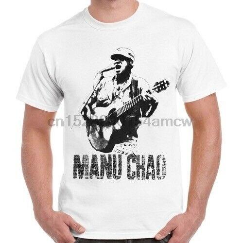 Manu Chao En Vivo Manonegra Retro T camisa 26