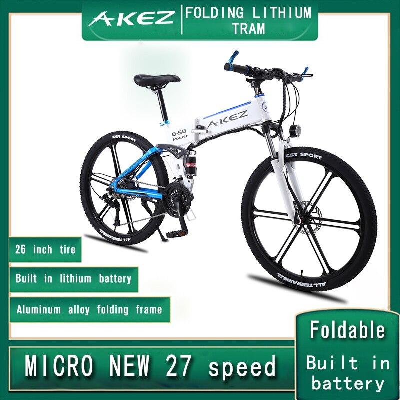 Bicicleta eléctrica plegable de aleación de aluminio para adulto de 26 pulgadas...