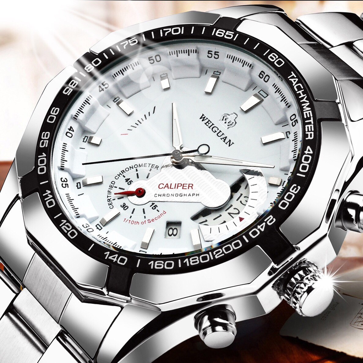 Casual Sport Watches Chronograph Wristwatch Automatic business Movement  Imported Mechanical Waterpr