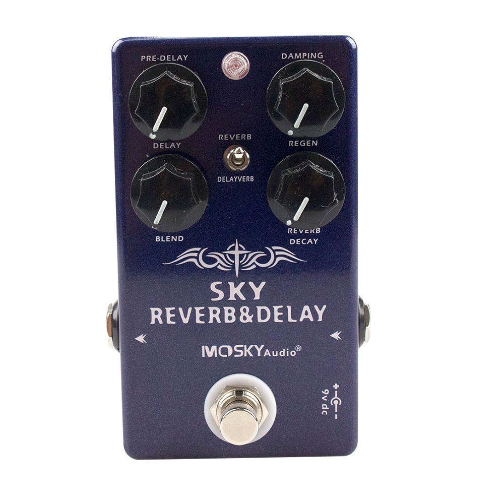 New Moskyaudio SKY Reverb Delay Guitar /Bass Effect Pedal