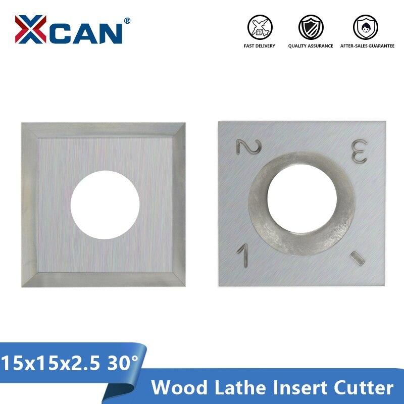 XCAN 15x15x2,5 мм 30 градусов карбидные вставки резак для токарного станка по дереву токарный инструмент HT1913