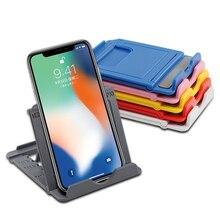 ผู้ถือโทรศัพท์ยืนสำหรับโทรศัพท์มือถือขาตั้งกล้องสำหรับ iPhone Xsmax 12 Huawei Xiaomi Mi 9พลาสติกพับได้โต๊ะผู้...