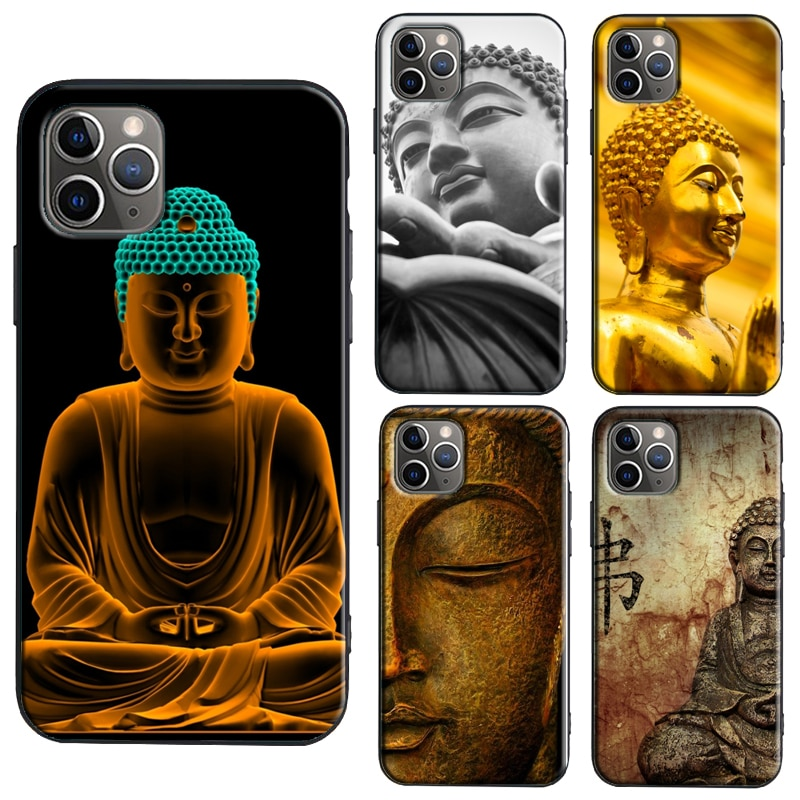 Buddha Statue TPU Case For iPhone XR X XS Max 11 Pro Max 6S 7 8 Plus SE 2020 Cover Coque