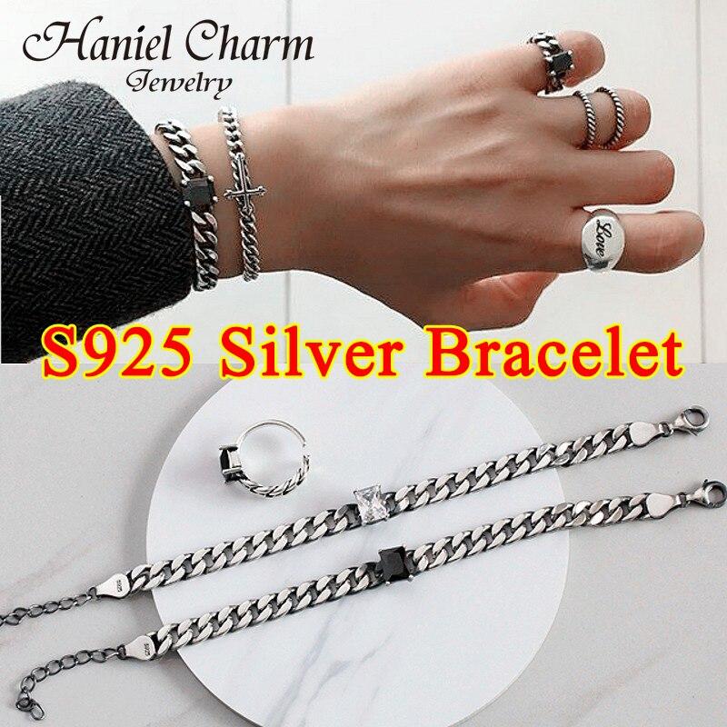 2021 new hot sale S925 Sterling Silver Charm Bracelet for Women Korean Simple Bracelet Fashion Birth