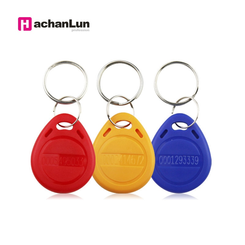 50PCS qualität assurance EM4100 / 4102 ID access control keychain abzeichen RFID 125KHZ teilnahme token induktion tag