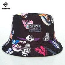 Hipster Hat Bucket Cap Graffiti Cotton Casual Adults Bucket Hat Caps Fishing Fisherman Beach Festival Sun High Quality Fashion