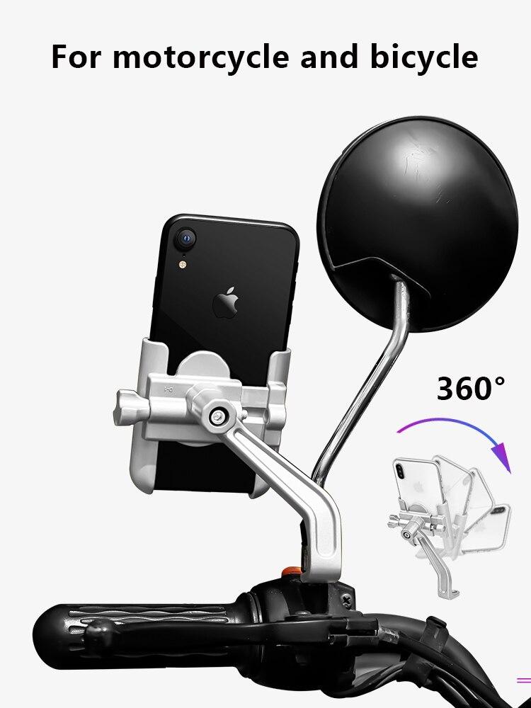 Soporte de aleación de aluminio para teléfono móvil motocicleta bicicleta YAMAHA tmax 530 tracer 700 900 tricker xg250 ttr 250 piezas tw200