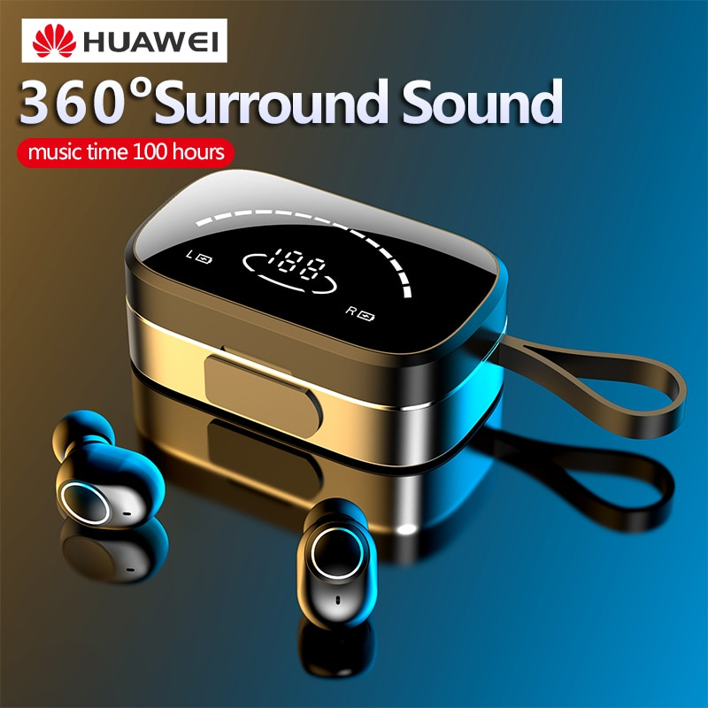 TWS Blutooth 5.0 Wireless Earphones for Huawei p40 mate 20 nova 7 Honor 30 pro Sports Running Earbud Noise Cancelling Xiaomi