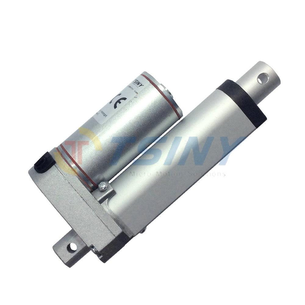 Carrera 50mm = 2 pulgadas/24V/ 600N = 60KG mini actuador lineal tubular lineal motion, envío gratis