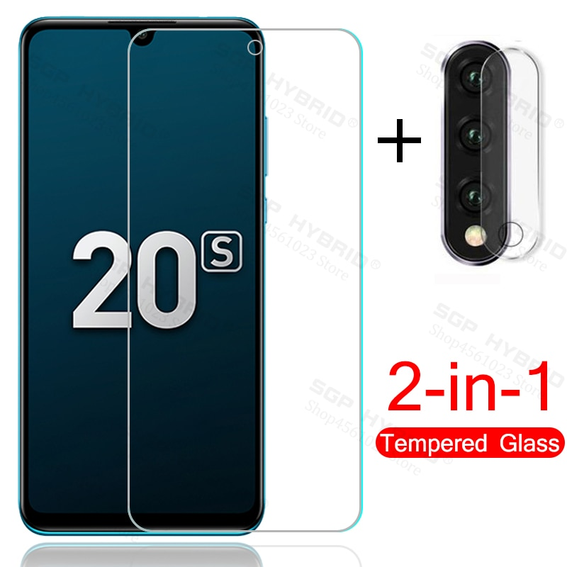 2 en 1 cristal de la cámara para honor 20 s 20 s honor20s vidrio protector en honor 20 lite 20 lite light mar-lx1h 6,15 ''película de la pantalla del teléfono