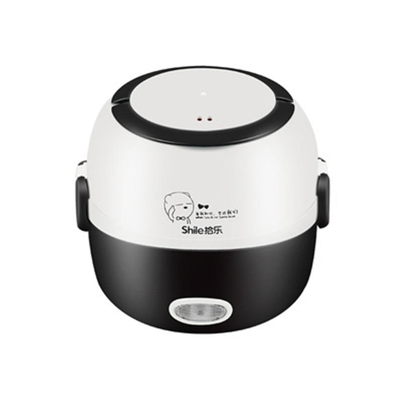 موقد صغير لطهي الأرز صندوق غداء كهربي المحمولة الحرارية التدفئة قدر الغذاء البخاري الطبخ الحاويات متعددة الوظائف طباخ كهربائي