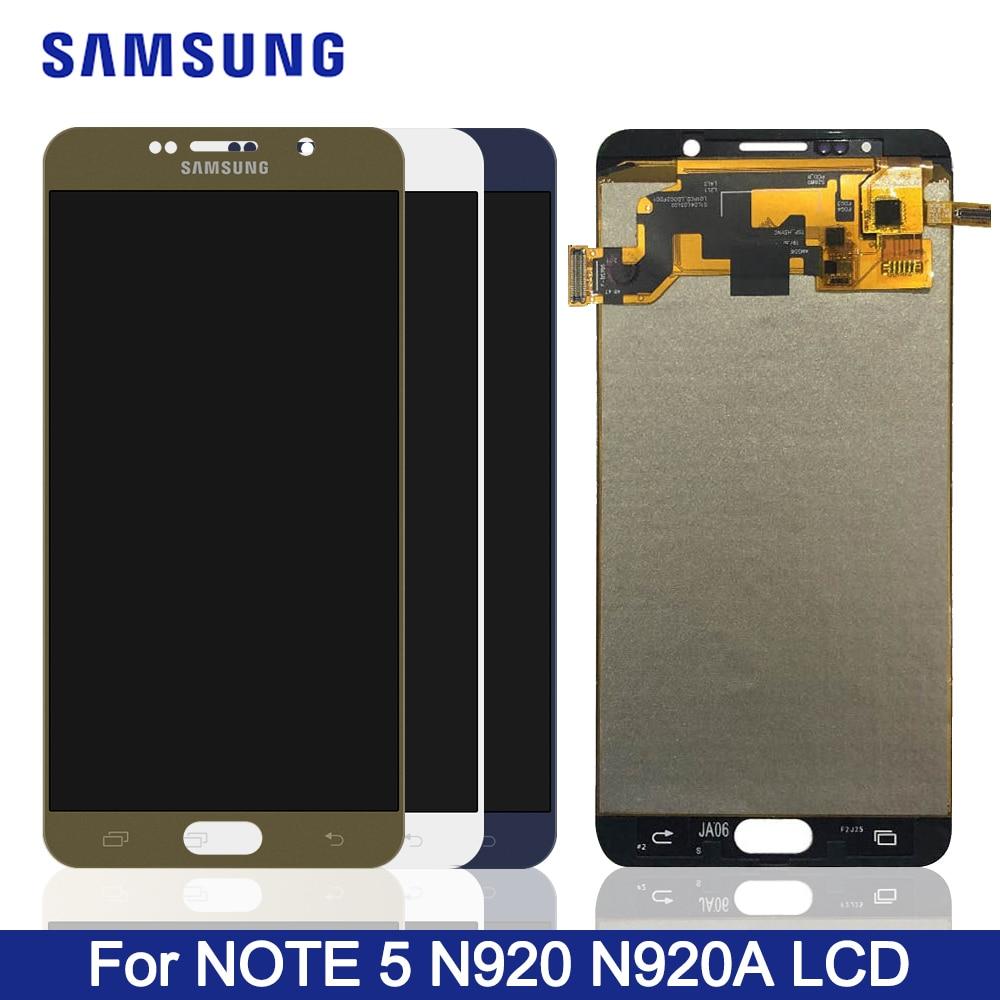 Pantalla LCD Note 5 de 5,7 pulgadas para Samsung Galaxy NOTE 5 N920 N920F, pantalla táctil LCD, digitalizador, reemplazo de pantalla TFT Note5