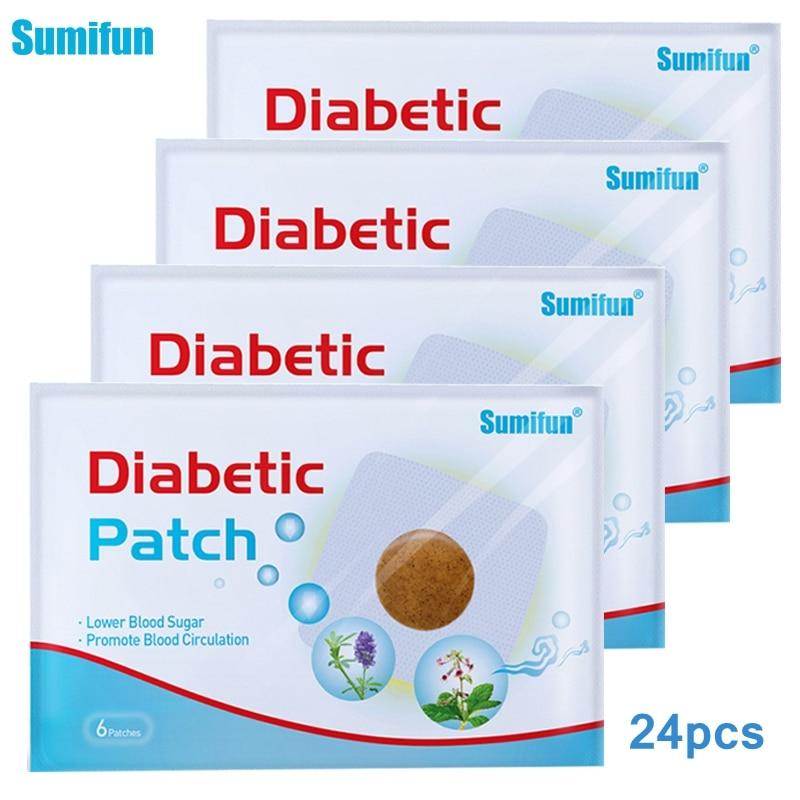 Sumifun 6/12/24pcs Diabetic Patch Stabilizes Blood Sugar Level Balance Blood Glucose Diabetes Patches Treatment Slim Plaster