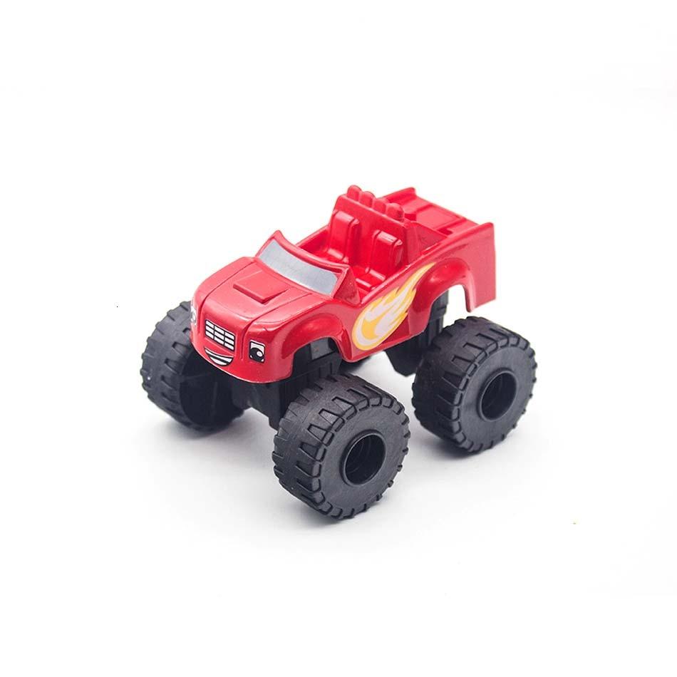 Corrida 6 pçs carro blaze monstro diecast brinquedo rússia milagre triturador caminhão brinquedos veículo transformação carro brinquedos melhores presentes para crianças