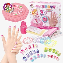 Kawaii Children Babies Kid Nail Art Beauty Princess Girl Toy Craft Handmade Pretend Play Makeup Game Set Cosmetic Toys