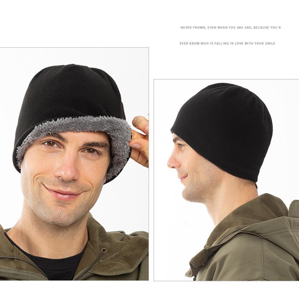 Осенне-зимние шапки, плюс бархатные толстые теплые лыжные шапки с капюшоном, мужские шапки, зимние шапки, женская зимняя шапка