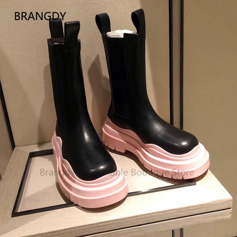 2021 مرآة جلد منتصف العجل النساء أحذية عالية الكعب أشار تو لامع لمعان Stiletto الكعوب الأحذية الإناث المدرج مأدبة بوتاس