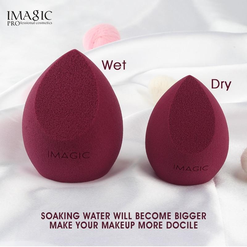 IMAGIC-esponja de maquillaje profesional, esponja cosmética para base correctora, crema de maquillaje,...