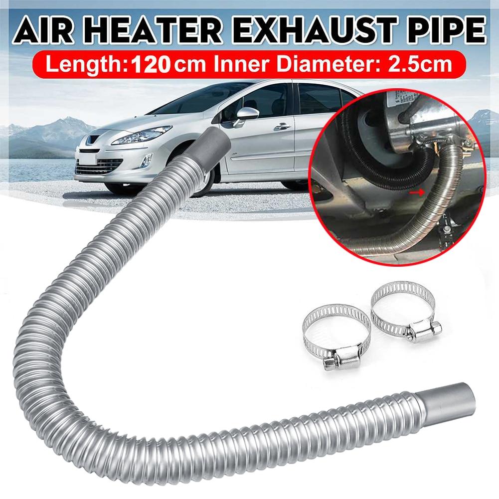 120cm Stainless Steel Car Exhaust Pipe Gas Vent Hose Diesel Heater Exhaust Muffler Pipe for Webasto Eberspacher Heater