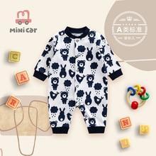 Car children's wear newborn baby one piece clothes baby spring long sleeve Romper