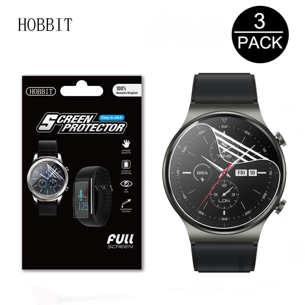 3 шт HD Прозрачная мягкая ТПУ пленка для Huawei Watch GT 2 Pro GT2 Pro Смарт-часы Полное покрытие защита экрана ЖК-пленка не стекло