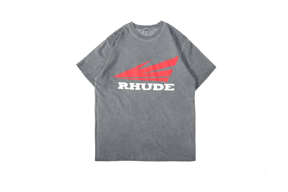 20ss rhude tシャツヨーロッパアメリカのファッションブランド夏rhude tシャツ洗浄歳レトロスケッチ肖像ゆるい男性女性rhude tシャツ