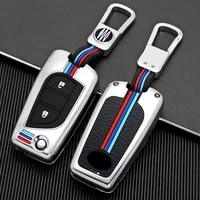 1x zinc alloy car key case for toyota fortuner tundra camry rav4 highlander corolla 2 3 buttons flip key protect shell