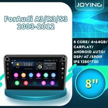 "8 ""auto GPS Multimedia player Android Radio Stereo Für Audi A3 8P 2003-2012 S3 2006-2012 RS3 Sportback 2011 Rückansicht Kamera DVR"
