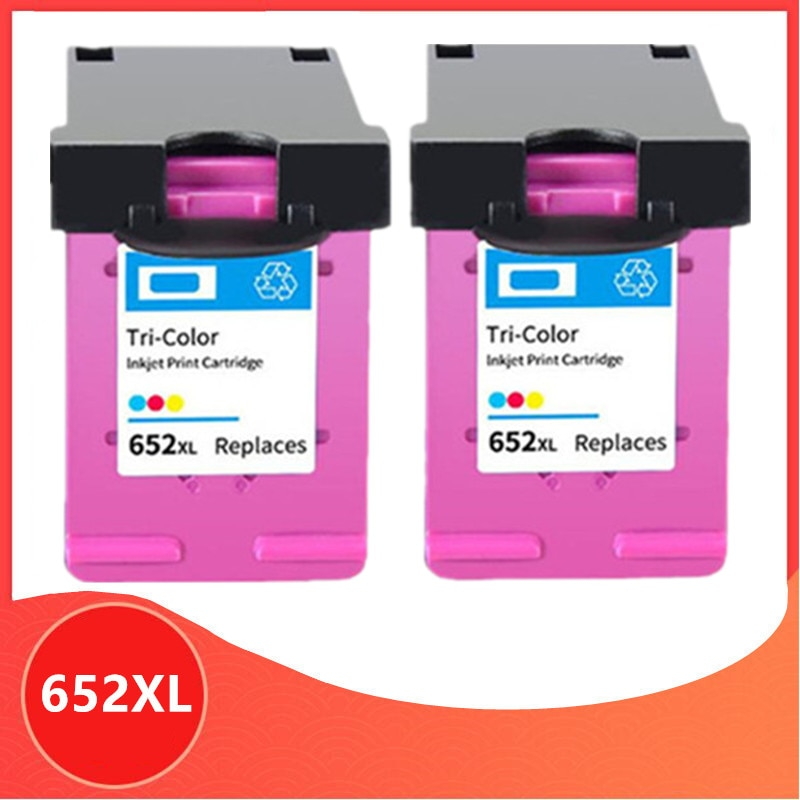 2PC Color Compatible 652XL 652 cartucho de tinta para HP 652 XL para HP652 Deskjet serie 1115, 1118, 2135, 2136, 2138, 3635, 3636, 3835, 4535