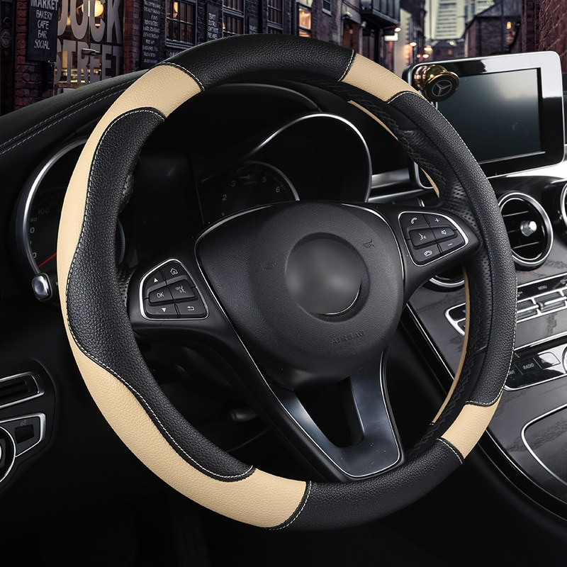 Fundas de ruedas de cuero para Hyundai santa fe ix25 solaris ix35 acento elantra veloster Genesis Veracruz tucson i30 son
