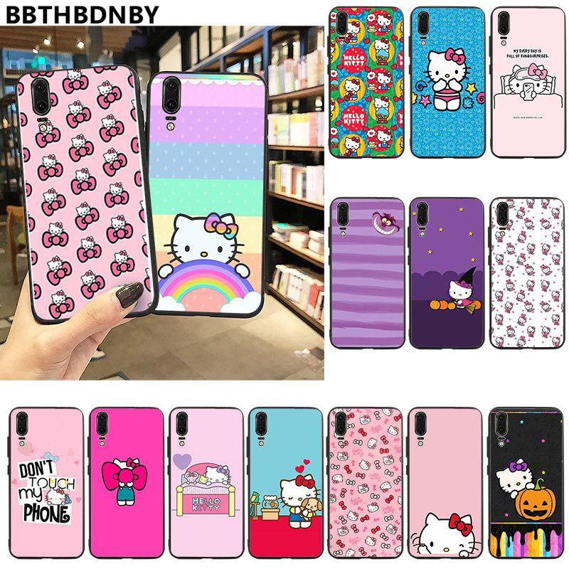 Para Huawei P30 Hola Kitty inteligente cubierta de la funda del teléfono carcasa para Huawei P10 lite P20 pro lite P30 pro lite Psmart amigo 20 pro lite