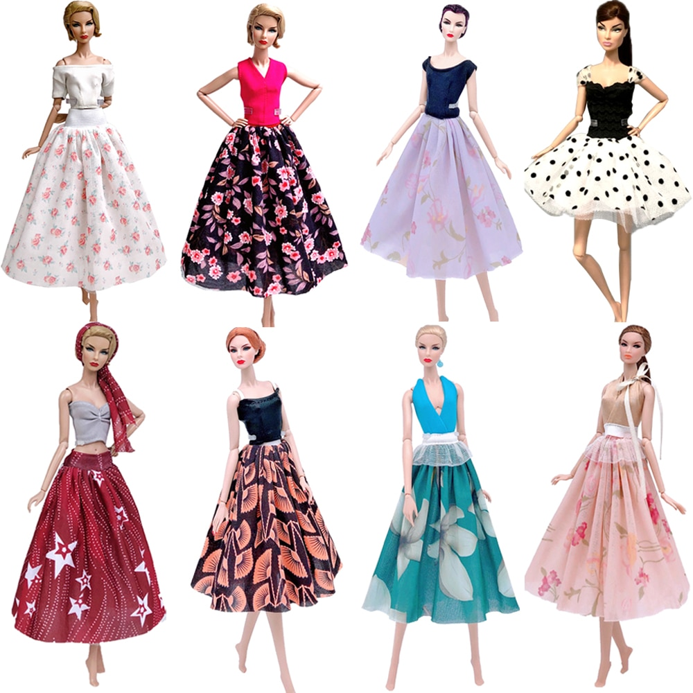 NK Новинка 1 х кукольная одежда модное платье Повседневная одежда юбка вечернее платье наряд для куклы Барби аксессуары детские игрушки подарок G5 JJ