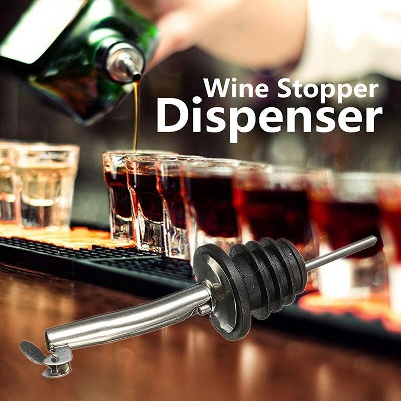 1Pc acier inoxydable vin bouchon de bouteille verseur distributeur bec vin whisky dispositif de versement barre outils cuisine Gadget livraison directe