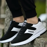 sneakers mens skateboarding shoes breathable male flats footwear fashion sports shoes lace up non slip comfortable outdoor