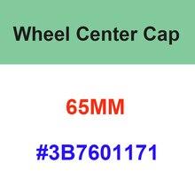 20pcs 65mm Car Wheel Center Hub Caps Black Silver Badge Rims Cap Cover Logo For 3B7601171 Auto Acces