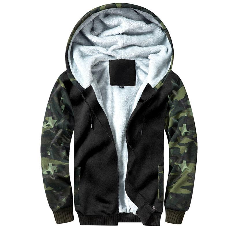 Outono inverno casacos de lã dos homens com capuz homem jaqueta casual regular fit Camuflagem dos homens ao ar livre jaquetas blusão jaquetas