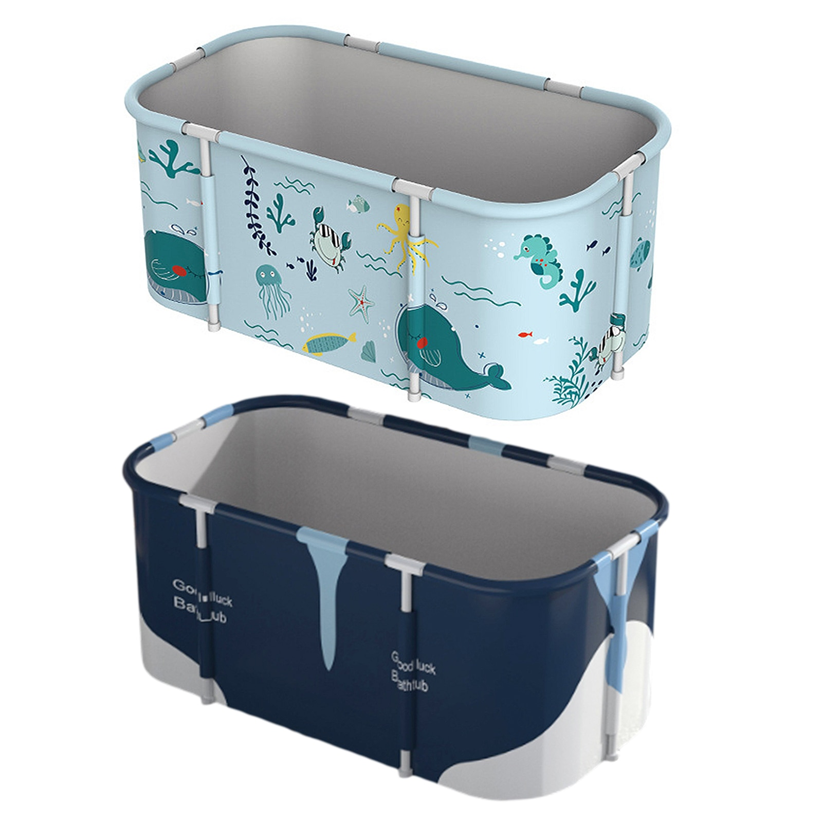 Nordic Style Foldable PVC Bathtub Portable Waterproof Thickened Adult Non-Inflatable Large Size Household Bathing Bucket enlarge