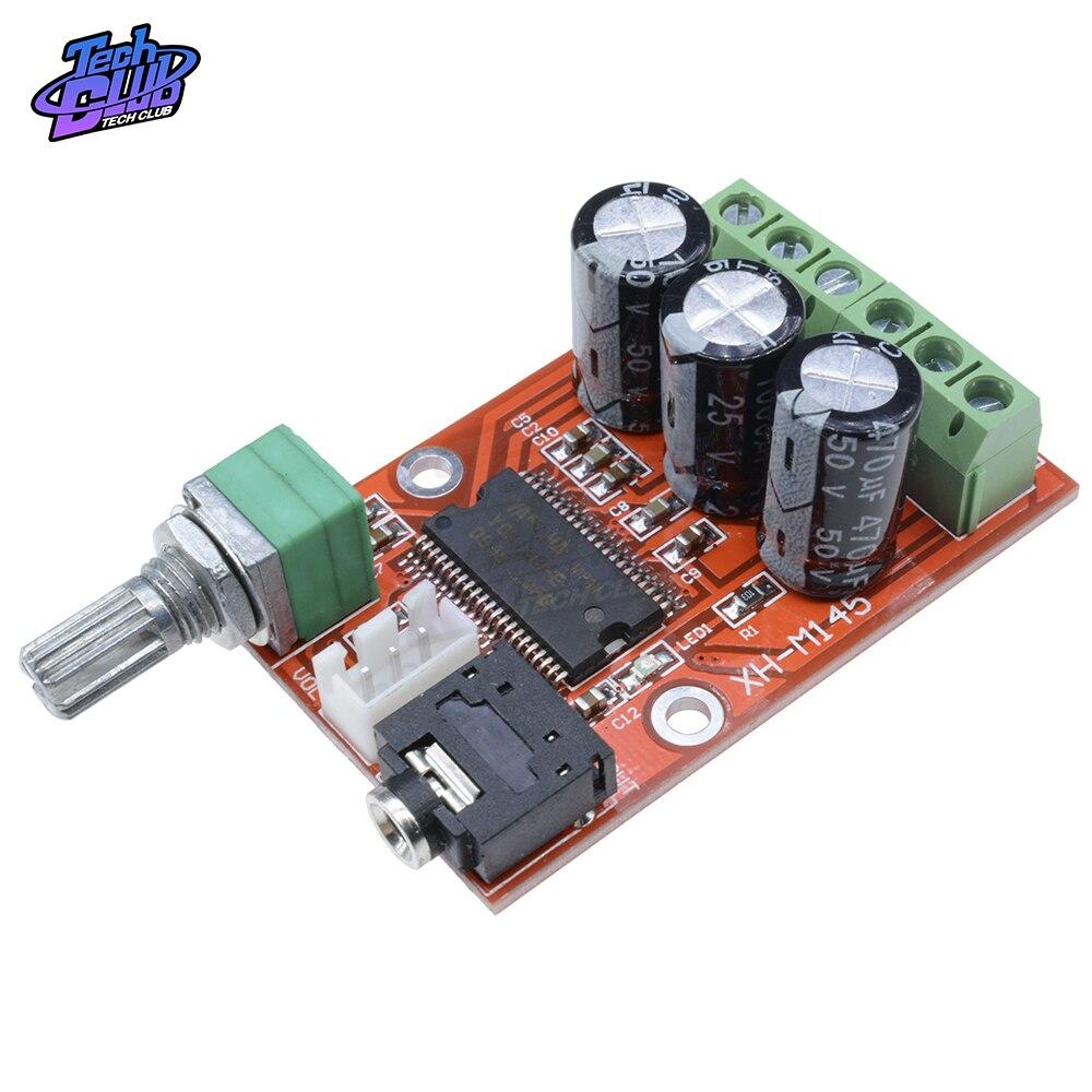 YDA138-E Плата усилителя, цифровой двухканальный стерео модуль усилителя мощности Miniatu Class D, Плата усилителя звука HD
