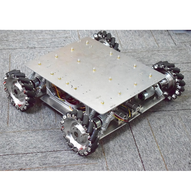 40 كجم تحميل امتصاص الصدمات تعليق Omni Mecanum عجلة سيارة روبوت الهيكل منصة مع 4 قطعة 24 فولت موتور اردوينو المراقب المالي