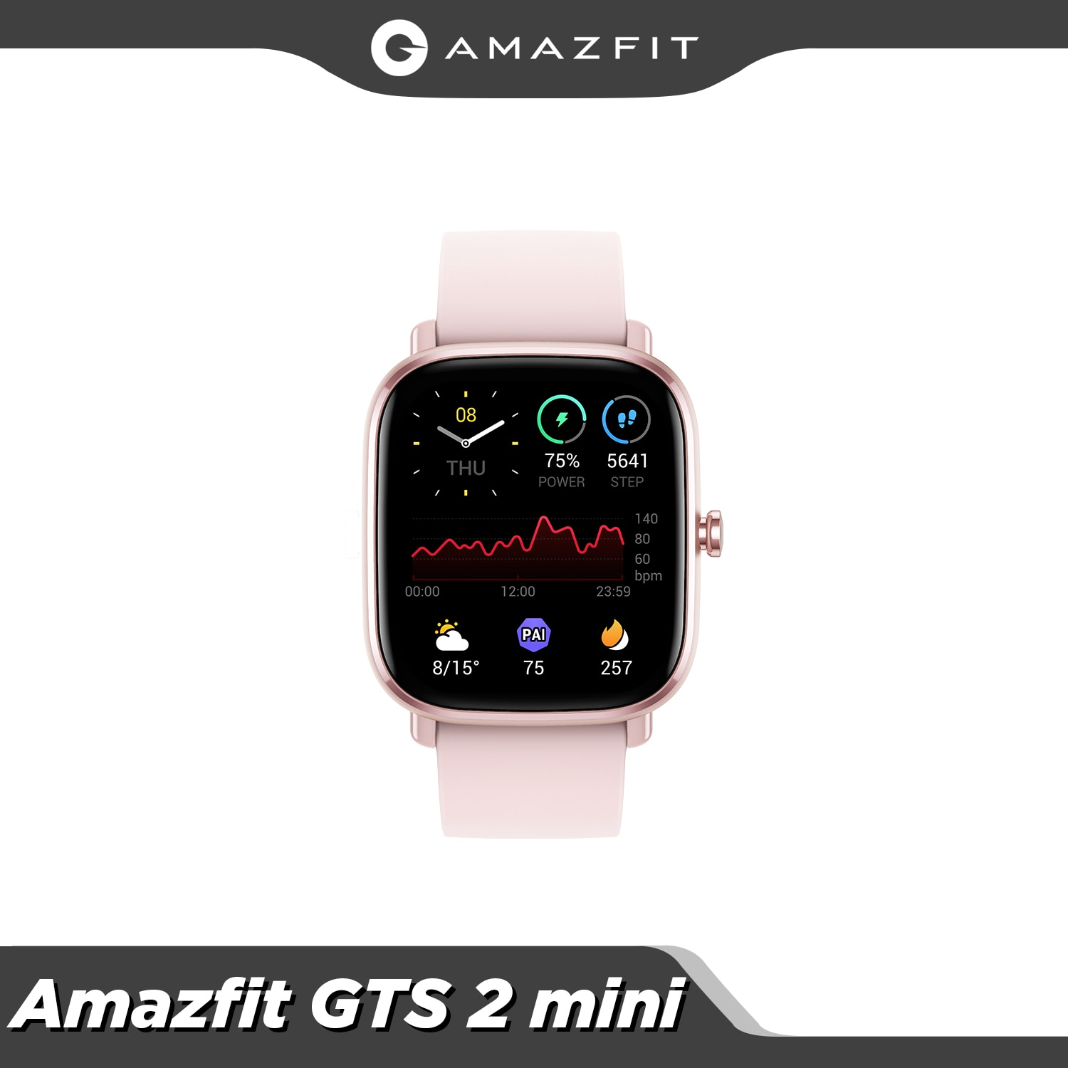 In Stock Original Amazfit GTS 2 Mini Smartwatch Bluetooth 5.0 Female Cycle Tracking 14 Days Battery Life GPS Sports For Android