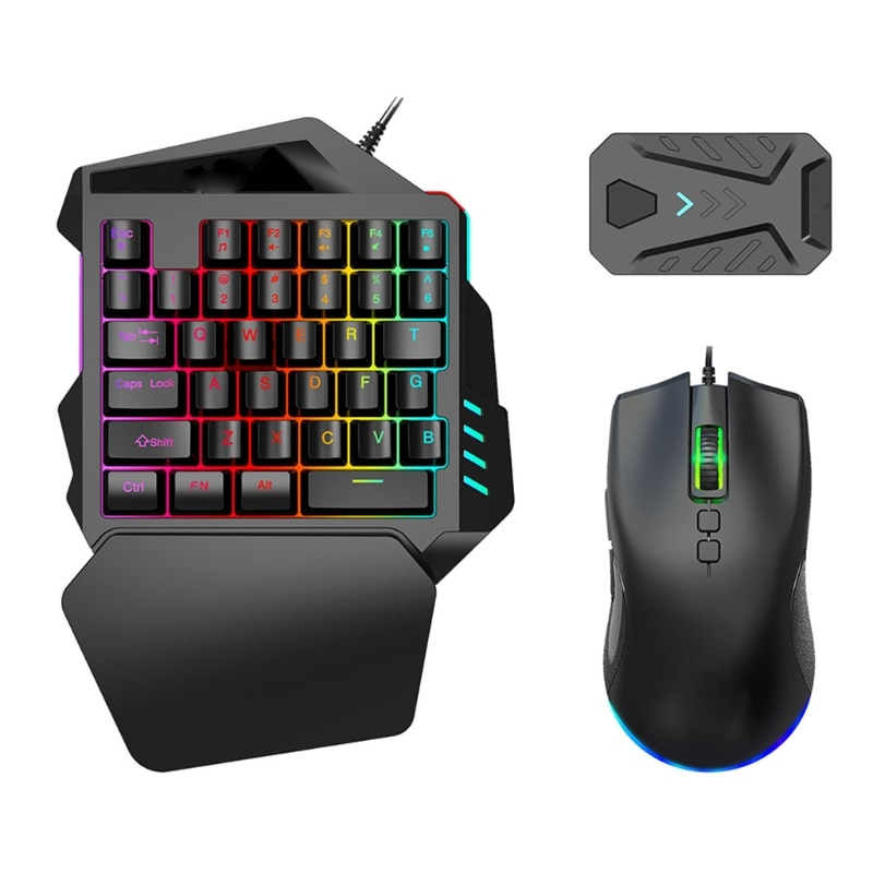 السلكية يد واحدة لوحة مفاتيح الألعاب لوحة مفاتيح صغيرة بإضاءة خلفية لوحة المفاتيح الميكانيكية ل PUBG