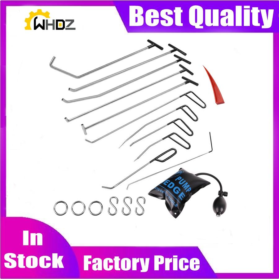 Hook Tools Push Rod Car Crowbar Paintless Dent Repair Tools tap down S hooks Ding Hail Puller Set