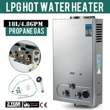 6/8/10/12/16/18L LPG Gas Propane Instant Tankless Hot Water Heater Boiler Stainless Steel Gas Water