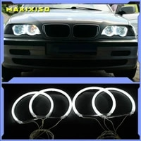ccfl angel eyes kit warm white halo ring for bmw e46 325i 325xi 330i 330xi with hid headlights 1999 2005 demon eye