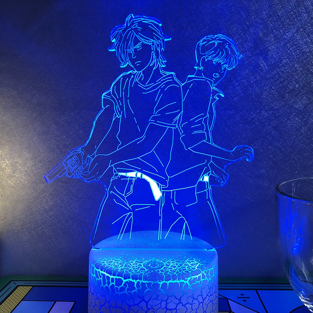 3D Led Banana Fish Night Light Anime Figure Table Lamp For Room Decor Usb Cool Child Manga Death Note Nightlights Indie Kid Gift  - buy with discount