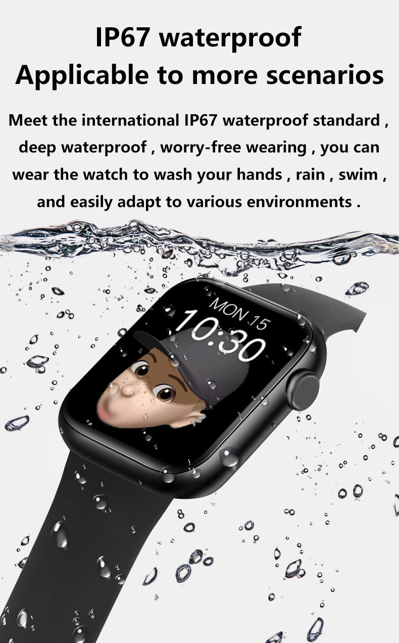 "Hfbc66700377a48e6ac14346ab2fda26fZ 2021 IWO 13 MAX Smart Watch T500+ plus 1.75""HD Bluetooth Calls Custom Wallpaper Heart Rate Monitor Sport Smartwatch PK W46 W26"