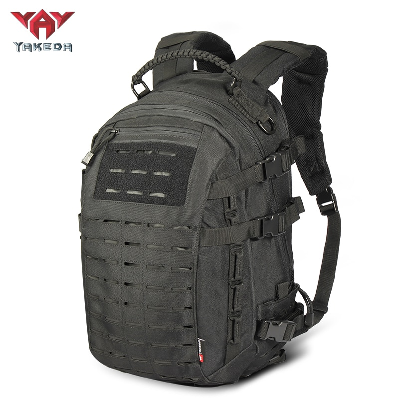YAKEDA new polyester fabric laser cutting tactical outdoor military backpack