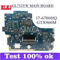 klkj gl752vw laptop motherboard for asus rog gl752vw zx70v fx71pro original mainboard hm170 i7 6700hq gtx960m 4gb